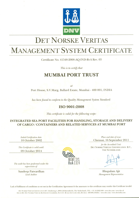 Mumbai Port Trust India